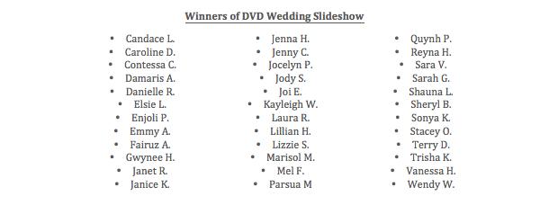 DVD Slideshow Winners