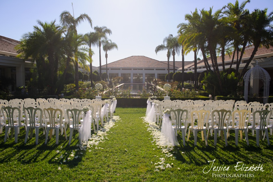 Nixon Library Wedding Photo, Ceremony Site