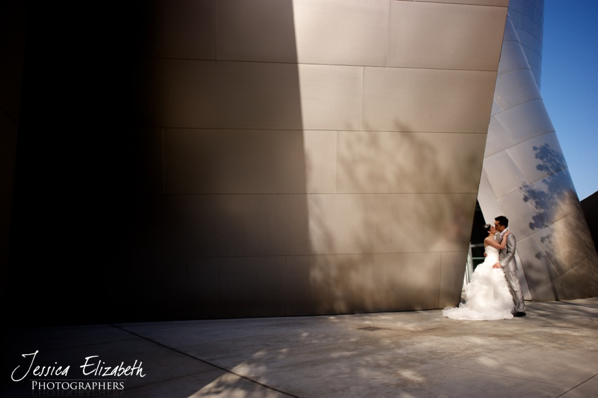 Walt Disney Concert Hall Wedding Photo Jessica Elizabeth
