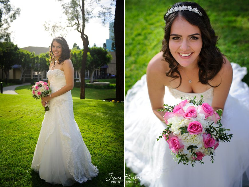 Costa Mesa Marriott Wedding Bride